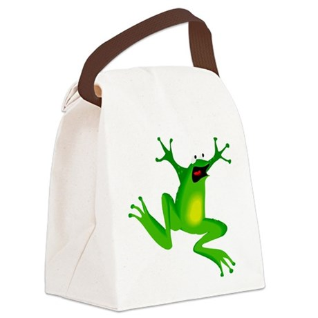 frog.png Canvas Lunch Bag