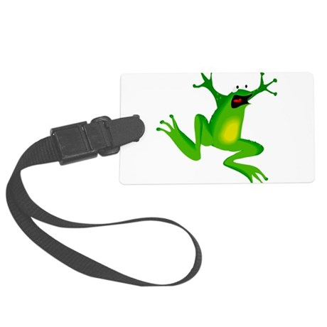 frog.png Large Luggage Tag