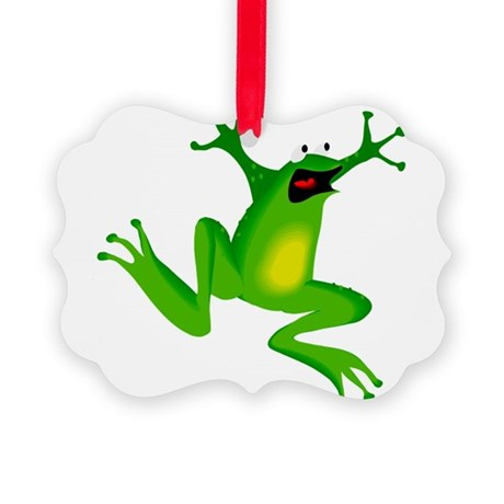 frog.png Picture Ornament