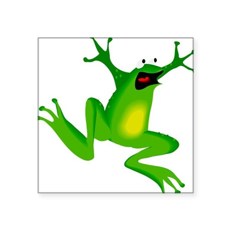 "frog.png Square Sticker 3"" x 3"""