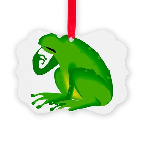 frog6.png Picture Ornament