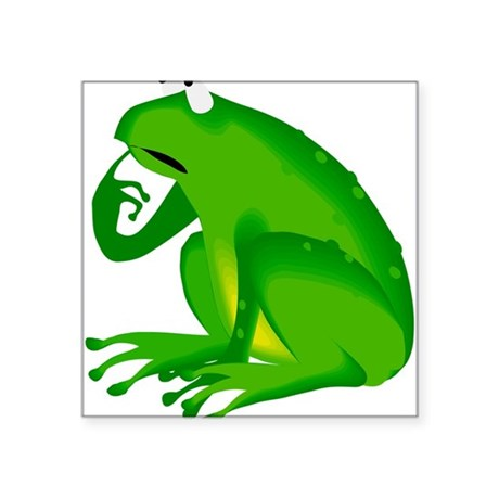"frog6.png Square Sticker 3"" x 3"""