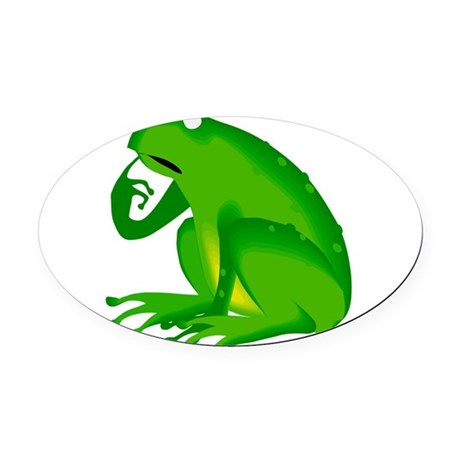 frog6.png Oval Car Magnet