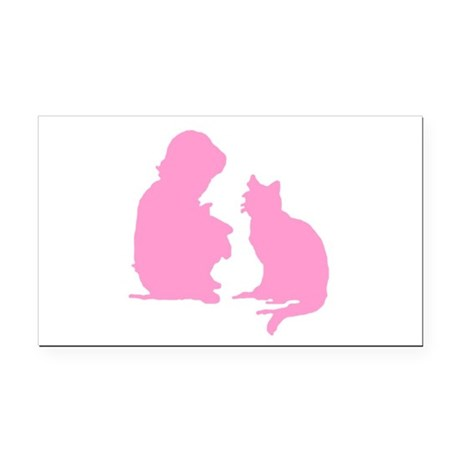 catnchild2b.png Rectangle Car Magnet