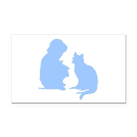 catnchild2a.png Rectangle Car Magnet