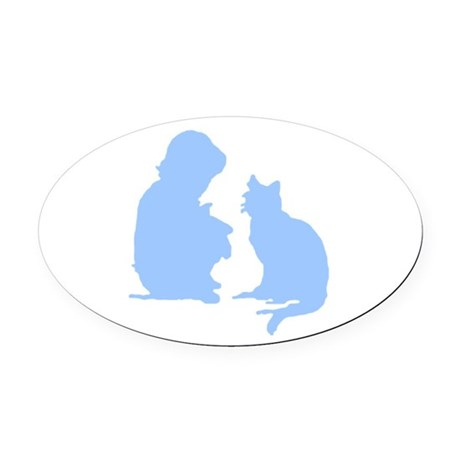 catnchild2a.png Oval Car Magnet