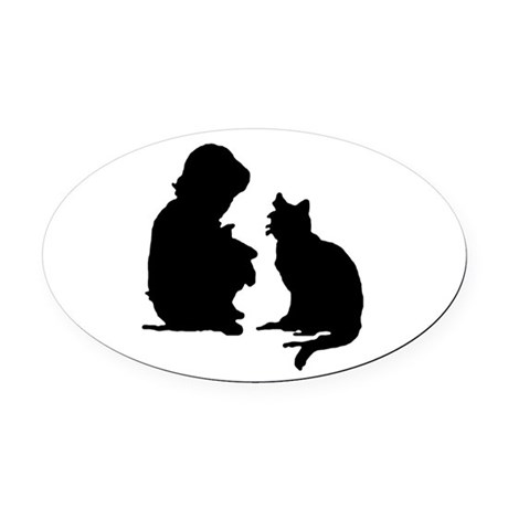 catnchild.png Oval Car Magnet