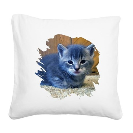 kitten4a.png Square Canvas Pillow