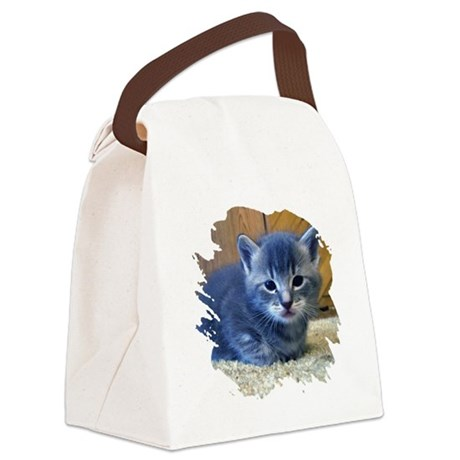kitten4a.png Canvas Lunch Bag