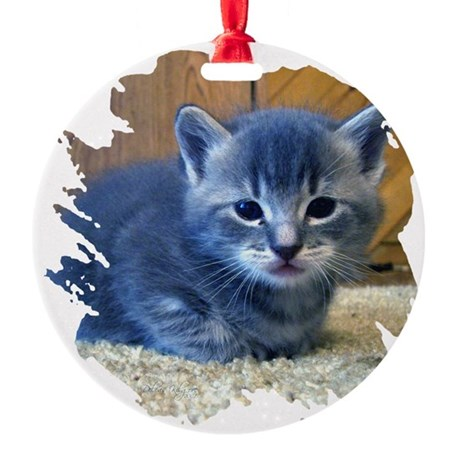 kitten4a.png Round Ornament