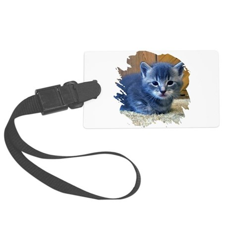 kitten4a.png Large Luggage Tag