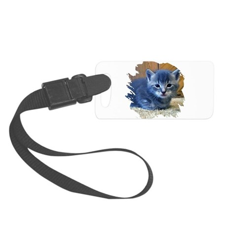 kitten4a.png Small Luggage Tag