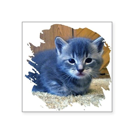 kitten4a.png Square Sticker 3&quot; x 3&quot;