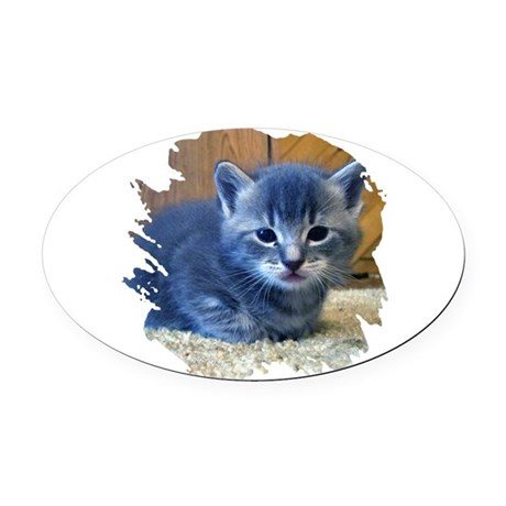 kitten4a.png Oval Car Magnet