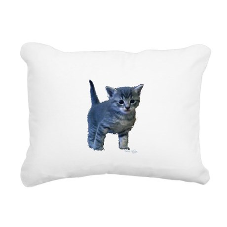 kitten6a.png Rectangular Canvas Pillow