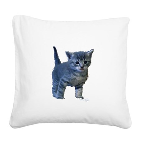 kitten6a.png Square Canvas Pillow