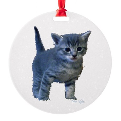 kitten6a.png Round Ornament