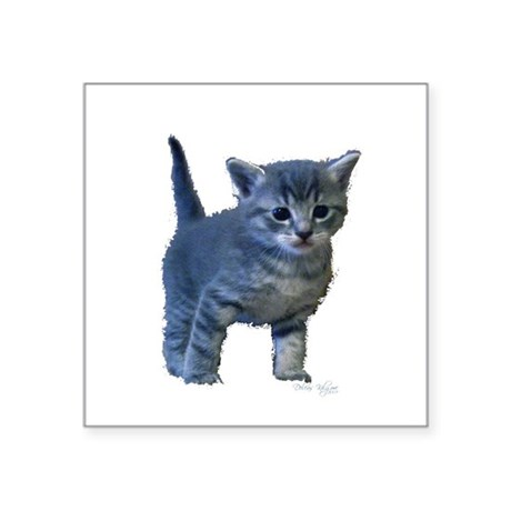 "kitten6a.png Square Sticker 3"" x 3"""