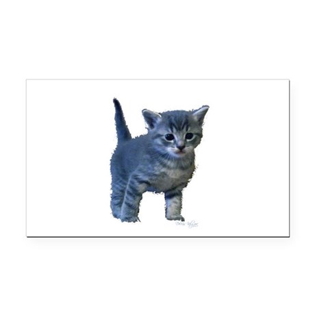 kitten6a.png Rectangle Car Magnet