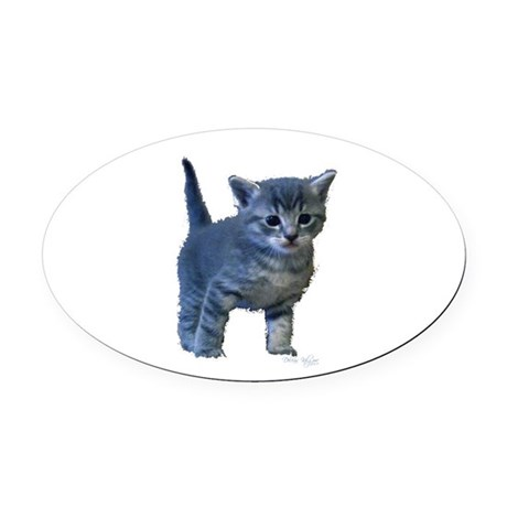 kitten6a.png Oval Car Magnet