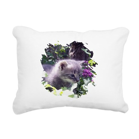 kitten3b.png Rectangular Canvas Pillow