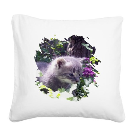 kitten3b.png Square Canvas Pillow