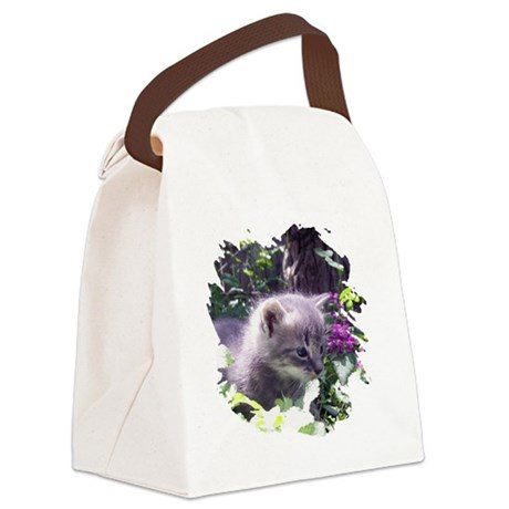 kitten3b.png Canvas Lunch Bag