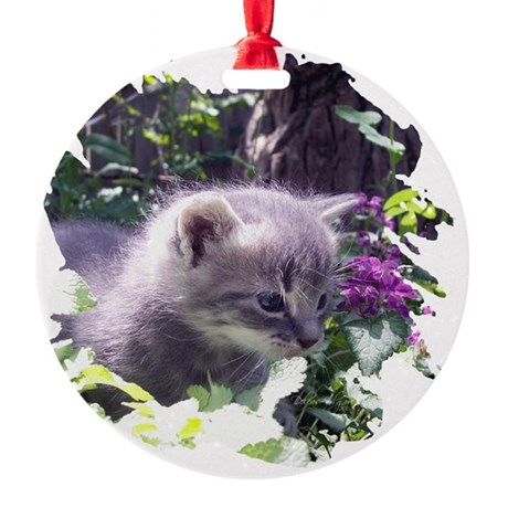 kitten3b.png Round Ornament