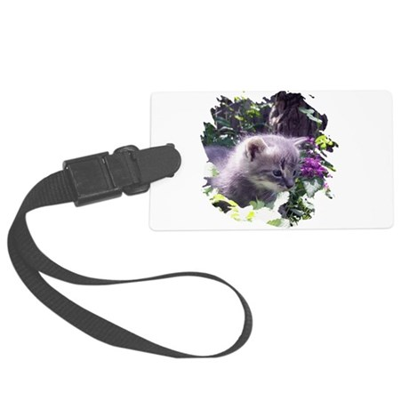 kitten3b.png Large Luggage Tag