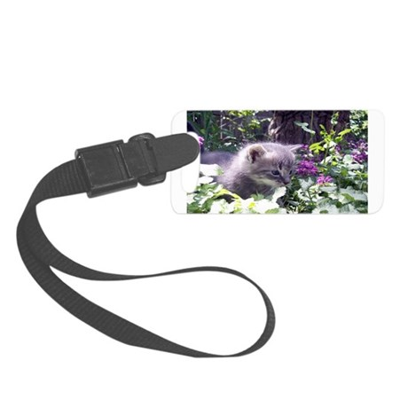 kitten3b.png Small Luggage Tag