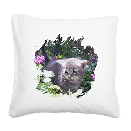 kitten1b.png Square Canvas Pillow
