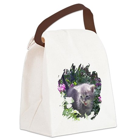kitten1b.png Canvas Lunch Bag