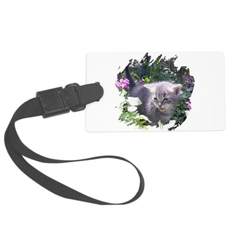kitten1b.png Large Luggage Tag
