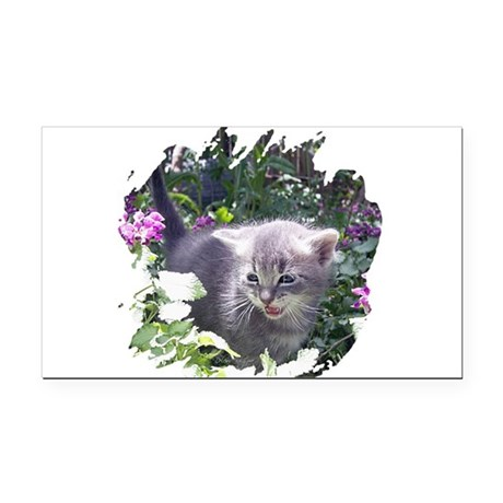 kitten1b.png Rectangle Car Magnet
