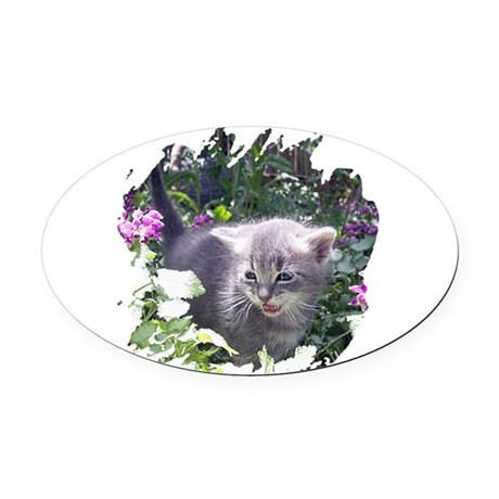 kitten1b.png Oval Car Magnet