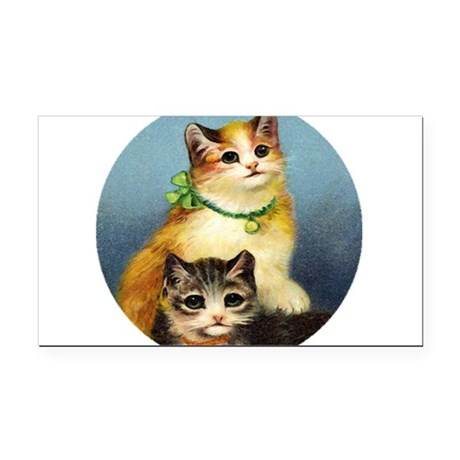 Cute Kittens Rectangle Car Magnet