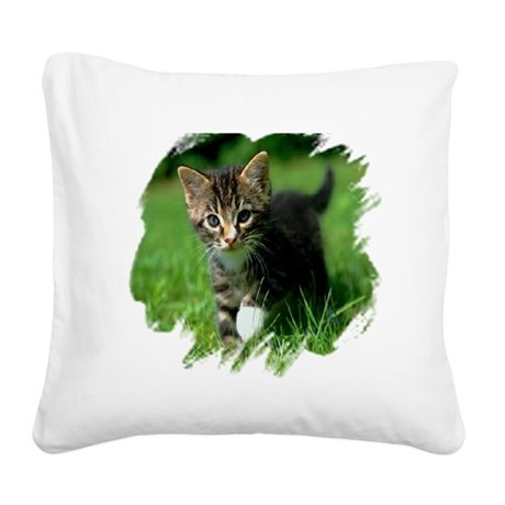 kitten Square Canvas Pillow