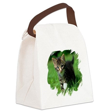 kitten Canvas Lunch Bag