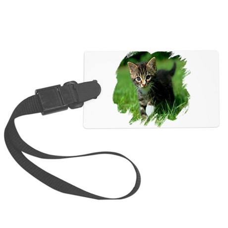kitten Large Luggage Tag
