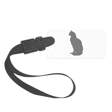 Grey Cat Small Luggage Tag