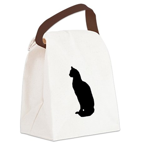 cat silhouette Canvas Lunch Bag