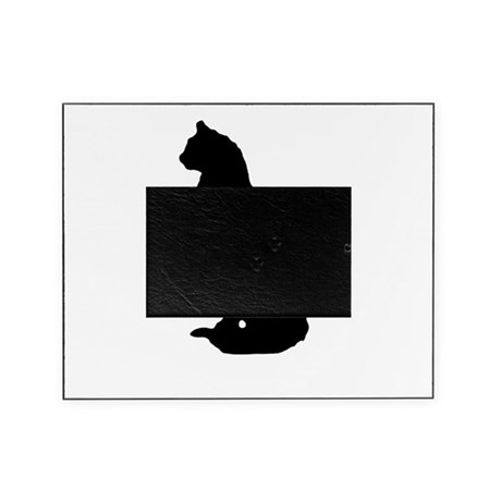 cat silhouette Picture Frame
