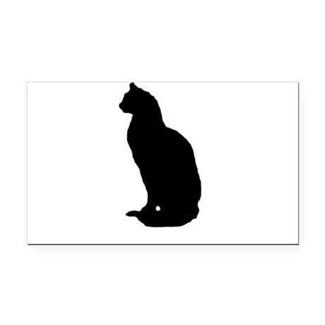 cat silhouette Rectangle Car Magnet