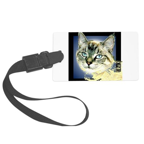 Blue Eyed Kitten Large Luggage Tag