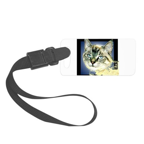 Blue Eyed Kitten Small Luggage Tag