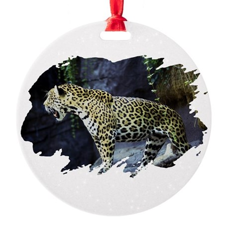 jaguar Round Ornament