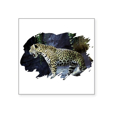 "jaguar Square Sticker 3"" x 3"""