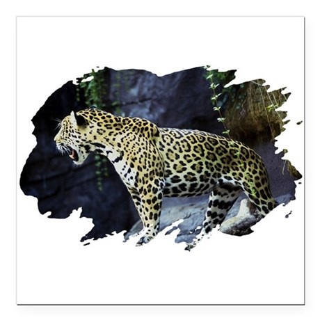 "jaguar Square Car Magnet 3"" x 3"""