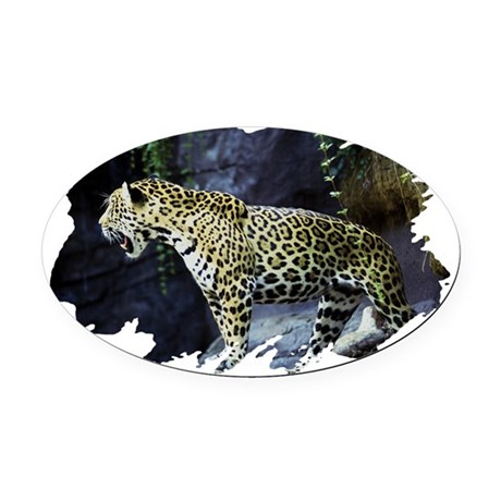 jaguar Oval Car Magnet