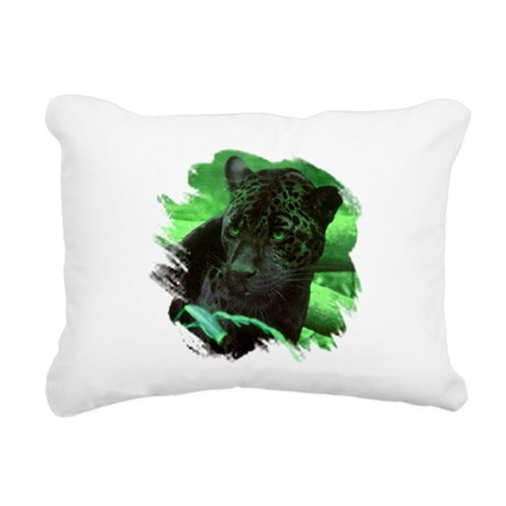 black jaguar Rectangular Canvas Pillow